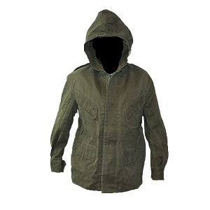 Belgian Army OD Heavyweight Hooded Rain Jacket