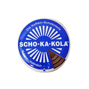 Scho-Ka-Kola Caffeinated Chocolate - 100g Tin - Milk Chocolate