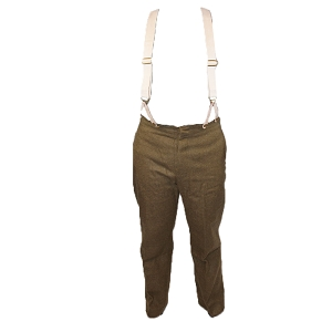 British Army WW1 Reproduction Pattern 1902 Trousers w/ Suspenders