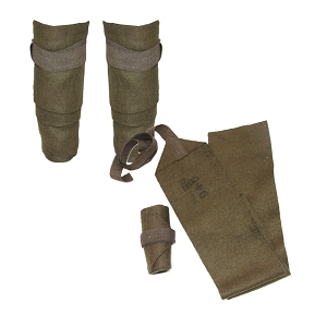Belgium Army Short Puttees - WW2 Dated