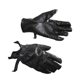 Belgian Army Rubberized Black Rain Gloves