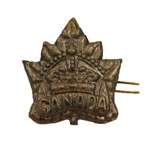 Canadian Expeditionary Force Reproduction General List Cap Badge