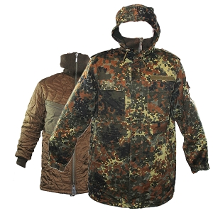German Army Flecktarn Parka w/ Liner