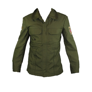 German Bundespolizei Green Moleskin Lightweight Jacket