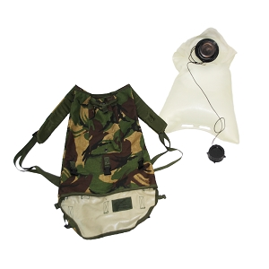 British Army 20L Solar Shower w/ DPM Carrying Bag