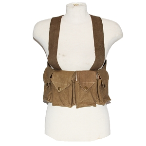 Rhodesian Army Reproduction FAL Chest Rig - Tan
