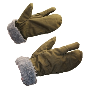 Czechoslovakia M55 OD Fur Lined Trigger Mittens