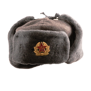 Soviet Army Grey Fur Ushanka