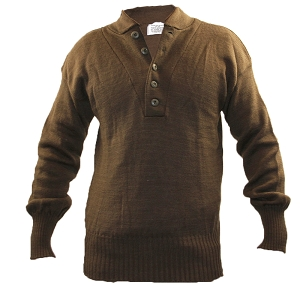 US Army Brown Wool Jeep Sweater