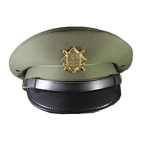Czech Army Dress Uniform Peak Hat w/ Insignia