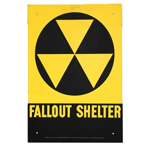 "US Office of Civil Defense Original Fallout Shelter Signs - 14"" x 10"""