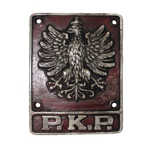 Polish State Railways Traincar Sign - Pre-WW2